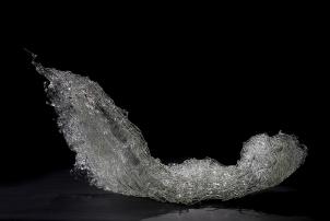Waver, 2010, fused borosilicate glass, 50 x 120 x 60 cm