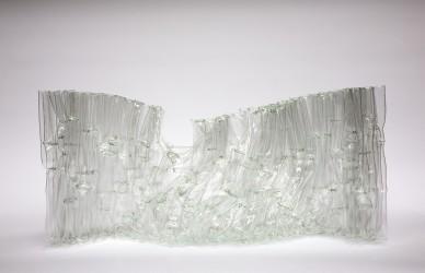 Paravent, 2009, 50 x 120 x 25 cm, fused glass