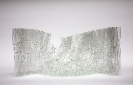 Paravent, 2009, fused glass tubes
