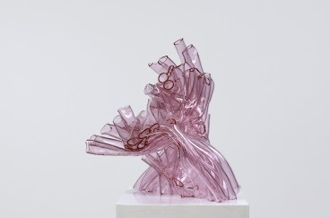 Pink Cluster I, 2010, 40 x 50 x 48 cm, fused borosilicate glass