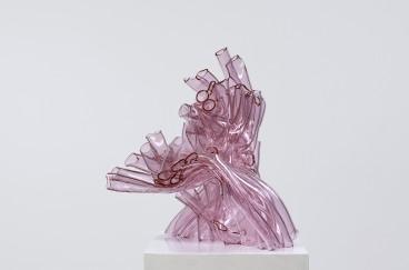 Pink Cluster I, 2010, 40 x 50 x 48 cm, fused borosilicate glass