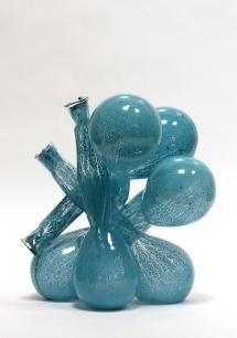 Organic Chemistry (blue), 2017, 35 x 30 x 30 cm, fused glass, glass paint (Ebeltoft Glass Museum, Denmark)
