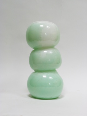 Celadon, 2018, 35 x 16 x 16 cm, blown glass