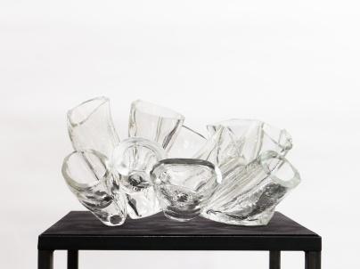 Anemona II, 2019, 20 x 37 x 27 cm, fused glass