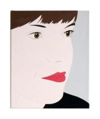 Angelika, 2018, acrylic and pigments on canvas, 30 x 24 cm