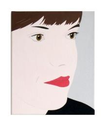 Angelika, 2018, 30 x 24 cm, acrylic and pigments on canvas