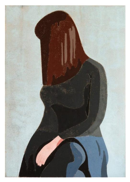 Angelika, 2016, tempera on canvas, 100 x 70 cm