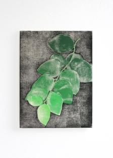 Blätter, 2017, 30 x 40 cm, tempera on canvas