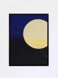 Gelber Mond, 2017, 30 x 40 cm, tempera on canvas