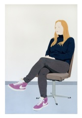 Jessica, 2019, pigments and acrylic on canvas, 200 x 130 cm