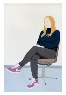 Jessica, 2019, 200 x 130 cm, pigments and acrylic on canvas