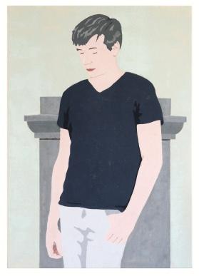 Untitled (Selfportrait), 2016, tempera on canvas, 100 x 70 cm