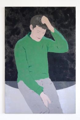 Peter, 2017, tempera on canvas, 120 x 80 cm
