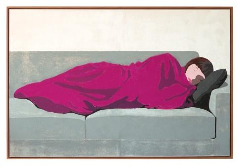 Rosa Decke, 2016, 150 x 100 cm, tempera on canvas