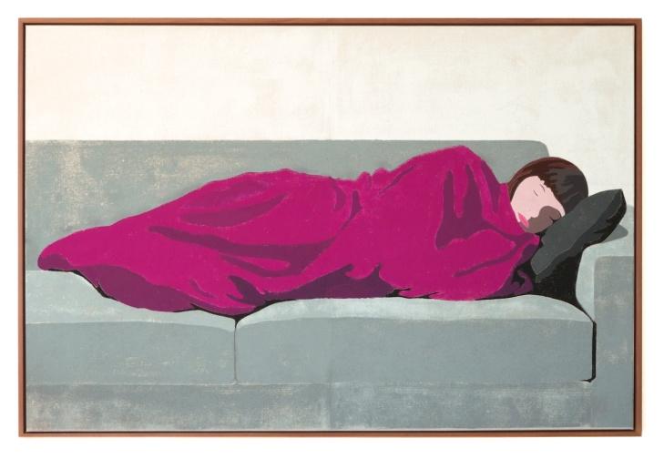 Rosa Decke, 2016, tempera on canvas, 100 x 150 cm
