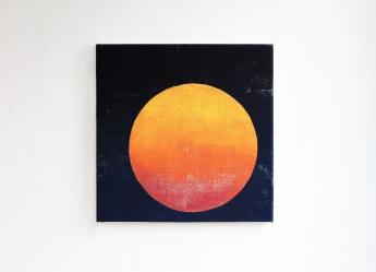 Sunset, 2017, 35 x 35 cm, tempera on canvas
