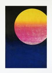 Sunset, 2018, 120 x 80 cm, tempera on canvas