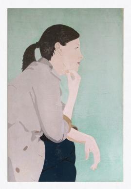 Tanja, 2017, tempera on canvas, 120 x 80 cm