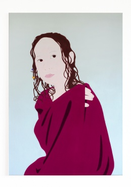 Mathilda, 2018, 100 x 70 cm, pigments and acrylic on canvas