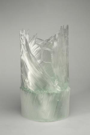 Cylinder VII, 2005, 53 x 32 x 32 cm, fused glass (Ernsting Foundation, Coesfeld-Lette)