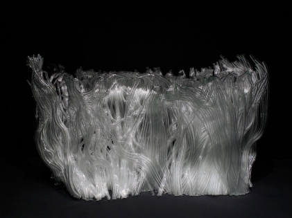 Informel Structure, 2011, fused glass, 35 x 60 x 40 cm, (European Museum of Modern Glass, Coburg)
