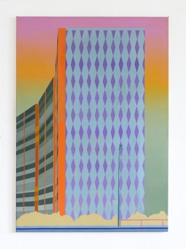 Wohnscheibe, 2020, 100 x 70 cm, oil on canvas