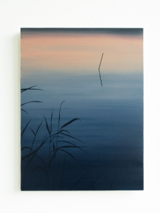 See am Abend, 2020, oil on board, 40 x 30 cm