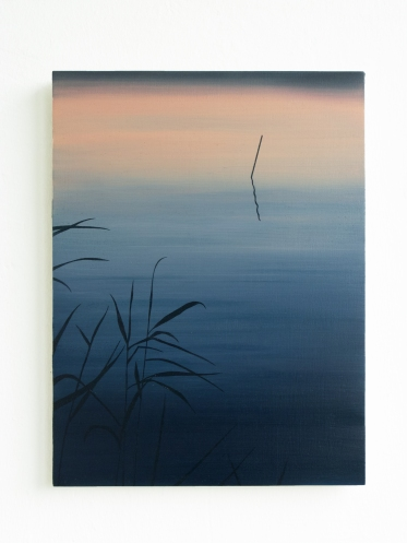 See am Abend, 2020, 40 x 30 cm, oil on board