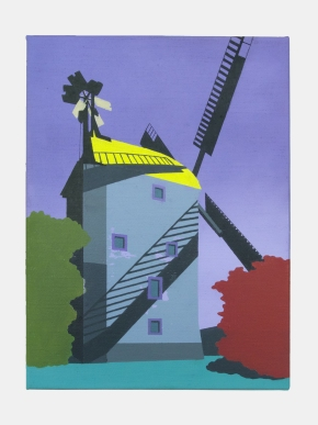 Windmühle in Saalow, 2020, oil on canvas, 20 x 30 cm