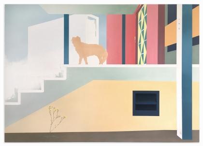 Fred auf der Treppe, 2020, oil on canvas, 100 x 140 cm