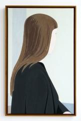 Angelika am Fenster, 2018, acrylic on canvas, 61 x 38 cm