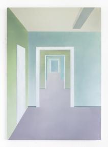 Flur, 2020, oil on canvas, 100 x 70 cm