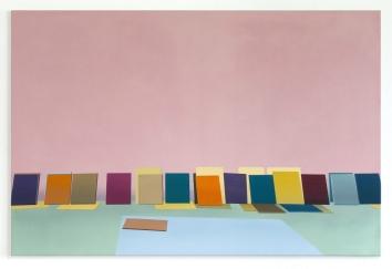 Im Atelier, 2020, oil on canvas, 80 x 120 cm