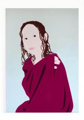 Mathilda, 2018, pigments and acrylic on canvas, 100 x 70 cm