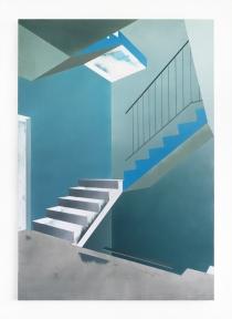 Treppenhaus, 2020, oil on canvas, 100 x 70 cm