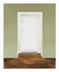 Fahrstuhl ,2020, oil and pencil on canvas, 61 x 49 cm